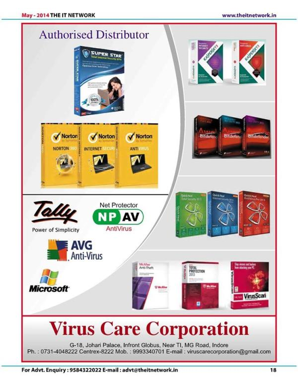virus care corporation deals in all anti virus in best prices mob 9993340701
