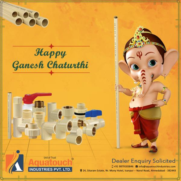 Sending across my prayers and warm wishes to you and your family on Ganesh Chaturthi. #AquatouchIndustries - by Aquatouch Industries Pvt Ltd, Ahmedabad