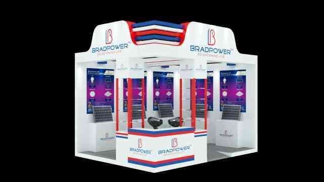 Bradpower shows very innovative booth design. for more info www.bradpower.in - by Bradpower solar panel @9999810099, Greater Noida