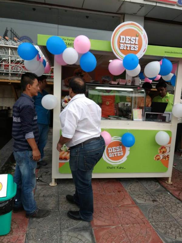 This is today's opening of DESI BITES, a kiosk chain coming across hyderabad. A very positive response by all the customers towards the concept and food. Great start..... - by Total Hospitality, Hyderabad