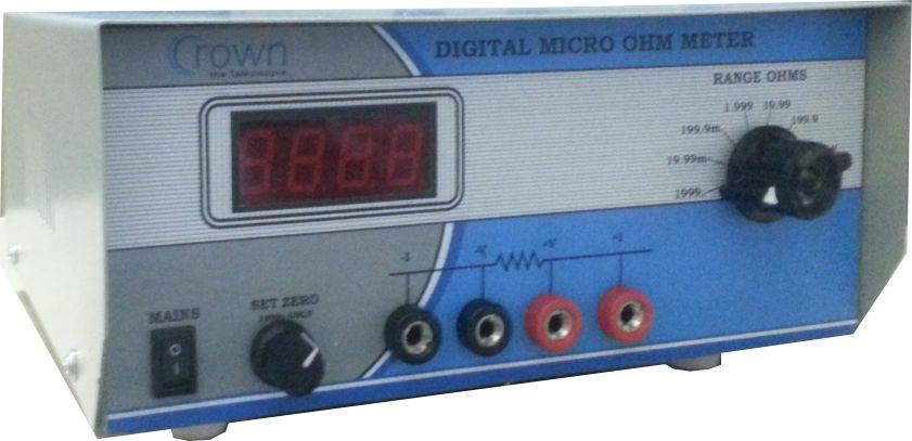 Digital Micro Ohm Meter manufacturer  CROWN Digital micro ohm meter 53c is very useful instrument for resistance measurement , 53c uses four terminal measurement method , 53c is being used in various industries .  micro ohm meter - 53c - de - by Crown Electronic Systems, New Delhi