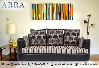 Polar three seater sofa -Black