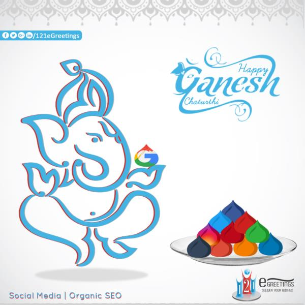 """May this #festival of #Ganesh Chaturthi remove all obstacles, and bring all-round #development, harmony and prosperity to all...May this festival bring peace, prosperity and #happiness in the lives of all, "" #Social-Media , #Organic #SEO # - by 121 E Greetings, Ahmedabad"