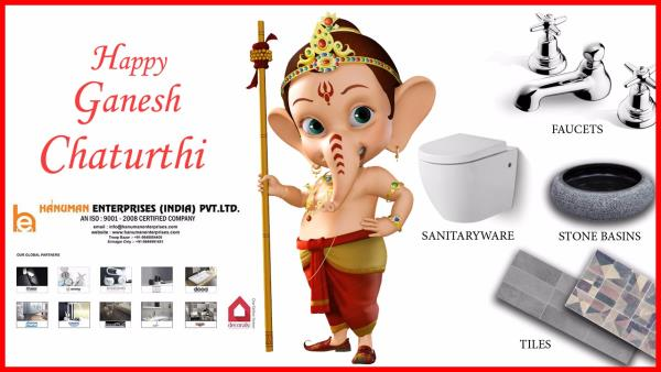 In this Vinayaka Chaturthi Ganesha Give you lot of Happiness and Joy. Happy Ganesh  Chaturthi to all. - by Hanuman Enterprises India Pvt. Ltd., Hyderabad