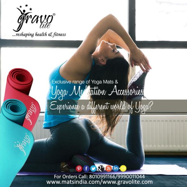 "Yoga Mats are available in different colors, patterns and sizes as per the customer's requirements. Yoga Mat is perfect  for performing a vast variety of exercises. Matsindia believes in ""Reshape your body and stay fit always. Browse throug - by Gravolite Yoga Mats, Delhi"