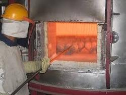 HEATING  FURNACE  FOR  FORGING: high temperature heating furnace is used to heat the material to the temperature adequate for the forging.  This can be