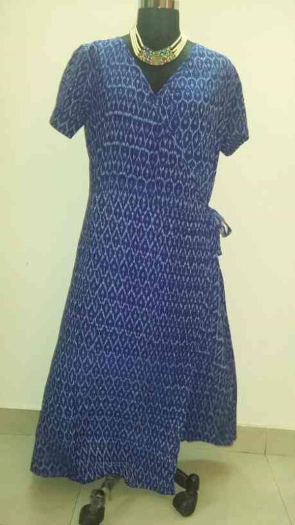 Wrap around Gown in Ikkat.... Cotton , ...in varied Colours n Sizes...