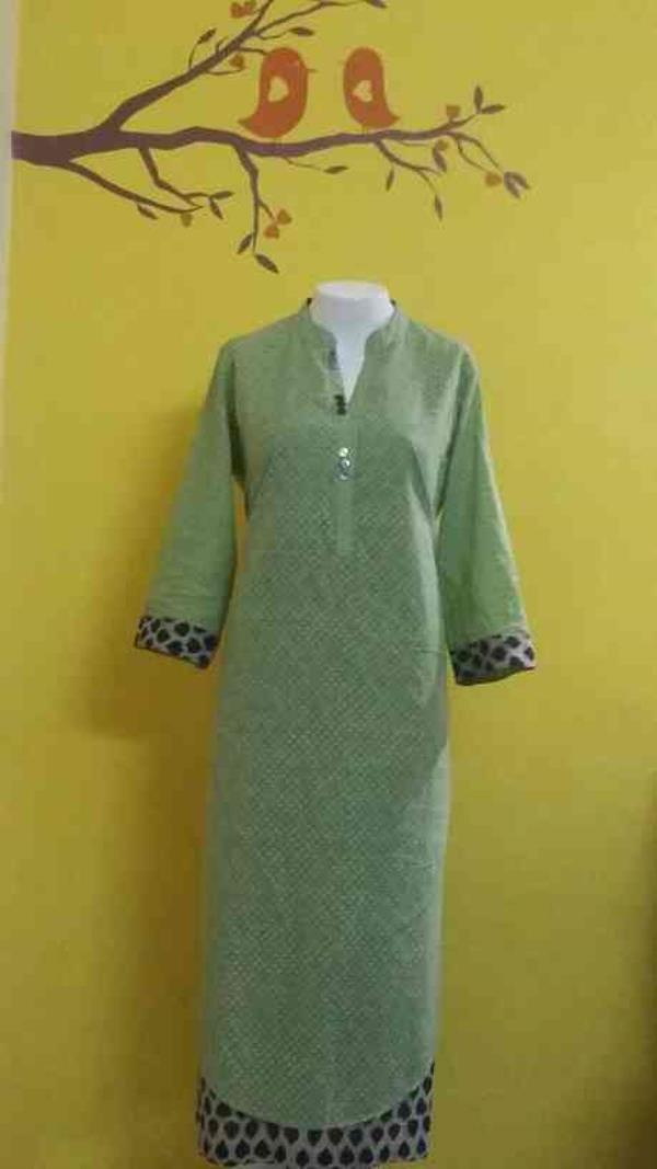 Cotton layered Kutti... Smart& Trendy.... can be worn with Trouser or Pellazo...