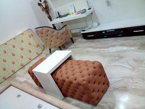 Ottoman with chair  - by Virtuee Furniture, Delhi
