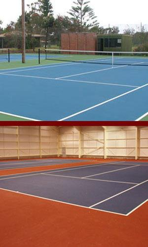 Outdoor Sports Flooring Contractor in Chennai  Outdoor sports flooring is installed over asphalt base with with 5, 7 or 9 layers of acrylic top coats over as per sports federation standards over liquid rubber for energy absorbtion & spring  - by Endura Floors & Furnishings, Chennai