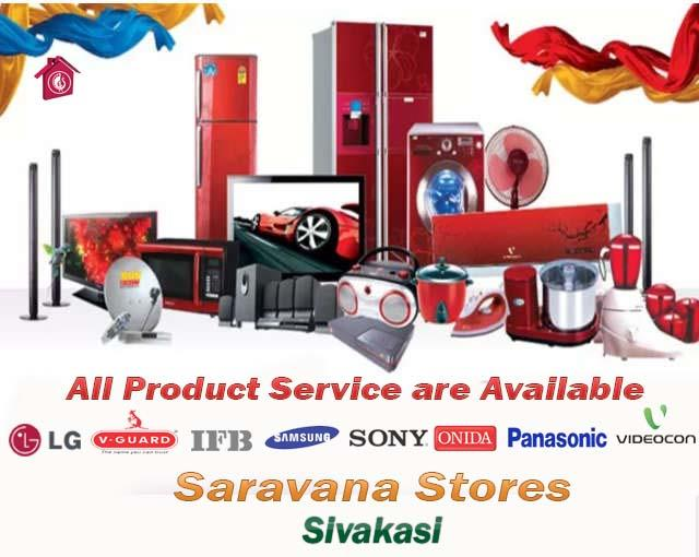 All Brand Product Service are available - by Saravana Stores and Embassy Family Shop, Sivakasi