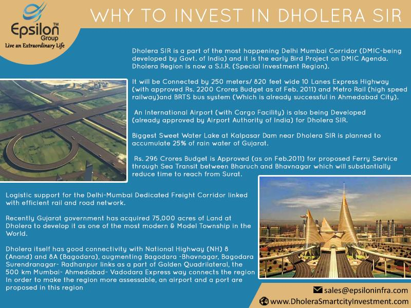 #Why To #Invest In #Dholera #SIR (Special Investment Region)? #Gujarat #government has acquired 75, 000 across of land of Dholera to #Develop It as one of the most #modern & Model #Township in the #World  - by Dholera Smart City Residential Plots, Ahmedabad