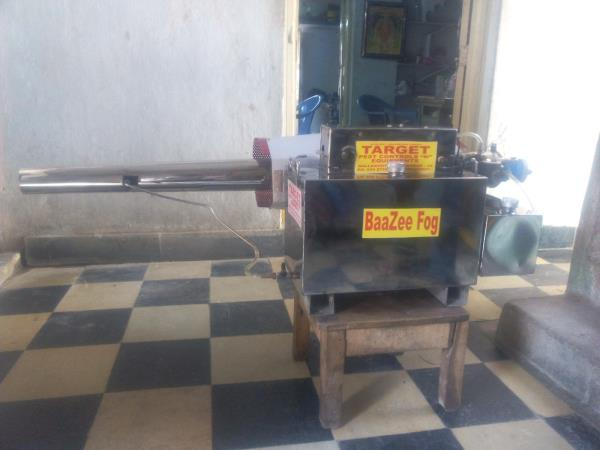 Baazee Fog Fogging Machine Model No. PCS34912 is available at Banjara Hills, Hyderabad. This Machine is suitable to control various mosquitoes in small colonies and gram panchayatis.  - by Target Pest Controls  'n'  Equipments, Hyderabad