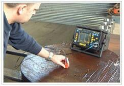 Ultrasonic testing is often performed on steel and other metals and alloys, though it can also be used on concrete, wood and composites, albeit with less resolution. It is a form of non-destructive testing used in many industries including aerospace, automotive and other transportation sectors.  Ultrasonic Testing in Vadodara Gujarat  Ultrasonic Testing in Gujarat India