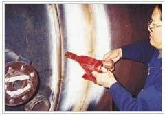 Start your Khoj today  Magnetic Particle Testing    CALL NOWASK FOR PRICE  Industrial X- Ray & Allied Radiographers India Private Limited, Jogeshwari West, Mumbai  PRODUCT DESCRIPTION  Item Code: 50436513  The particles that are used for magnetic particle inspection are a key ingredient as they form the indications that alert the inspector to defects. Particles start out as tiny milled (a machining process) pieces of iron or iron oxide. A pigment (somewhat like paint) is bonded to their surfaces to give the particles color. The metal used for the particles has high magnetic permeability and low retentivity. High magnetic permeability is important because it makes the particles attract easily to small magnetic leakage fields from discontinuities, such as flaws. Low retentivity is important because the particles themselves never become strongly magnetized so they do not stick to each other or the surface of the part. Particles are available in a dry mix or a wet solution. Either this:The first step in a magnetic particle inspection is to magnetize the component that is to be inspeTesting Magnetic Particle Testing in Vadodara Gujarat