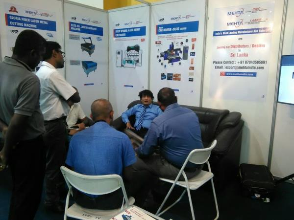 Mehta Cad Cam Group at Sri Lanka Wood International Expo 2016.  Mr. Shailesh Mehta (Director Mehta Cad Cam Group) Guiding customers for their requirements.  Grab the chance to Meet him @ BMICH, Colombo. Stall No B24 - by MEHTA CAD CAM SYSTEMS PVT LTD, Ahmedabad