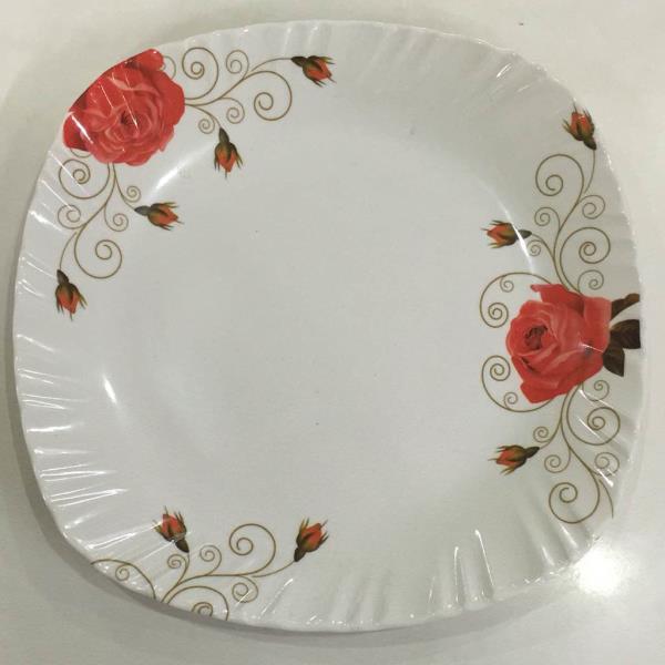 "Melamine dinner plate. Model :- elegance. Size :- 8"" & 11"".  - by Prestige plastics india, New Delhi"