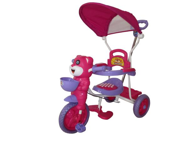 Peachbag proudly presents HLX-NMC HAPPY TIGER KIDS ROCKING TRICYCLE - PINK/PURPLE (EASY ASSEMBLY EDITION). Best features of this kids tricycle are :  -BUCKET SEAT FOR COMFORT AND SAFETY -BROAD TYRES FOR SAFETY -DESIGNER REAR BASKET -INTERNA - by PEACHBAG, Chennai