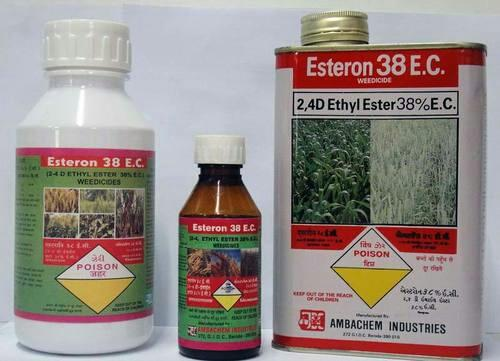 We are providing 4D Ethyl Ester 38% E.C to our consumer with the following details: * Compatible and non harmful to the beneficial organism Systemic in action * Although the true mechanism of action is not well understood, the primary action of 2, 4-D is that it affects cell wall plasticity and nucleic acid metabolism in plants.