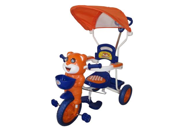 Peachbag proudly presents HLX-NMC HAPPY TIGER KIDS ROCKING TRICYCLE - BLUE/ORANGE (EASY ASSEMBLY EDITION). Best features of this kids tricycle are :  -BUCKET SEAT FOR COMFORT AND SAFETY -BROAD TYRES FOR SAFETY -DESIGNER REAR BASKET -INTERNA - by PEACHBAG, Chennai