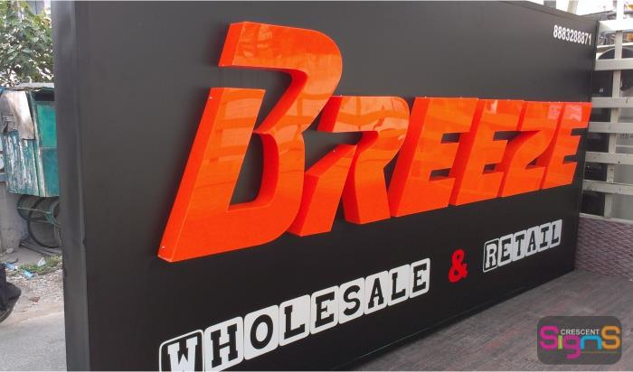 ACP Boards with LED Lightings Acrylic Letters 3D signages