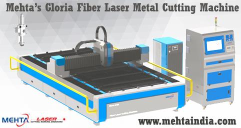 Mehta Cad Cam Group's GLORIA Fiber Laser Metal Cutting Machine.  Gloria is the revolutionary machine in Metal Cutting Industry. with its Powerful Hardware Configuration, it is useful in many industries like Signage, Interior Decoration, Gif - by MEHTA CAD CAM SYSTEMS PVT LTD, Ahmedabad
