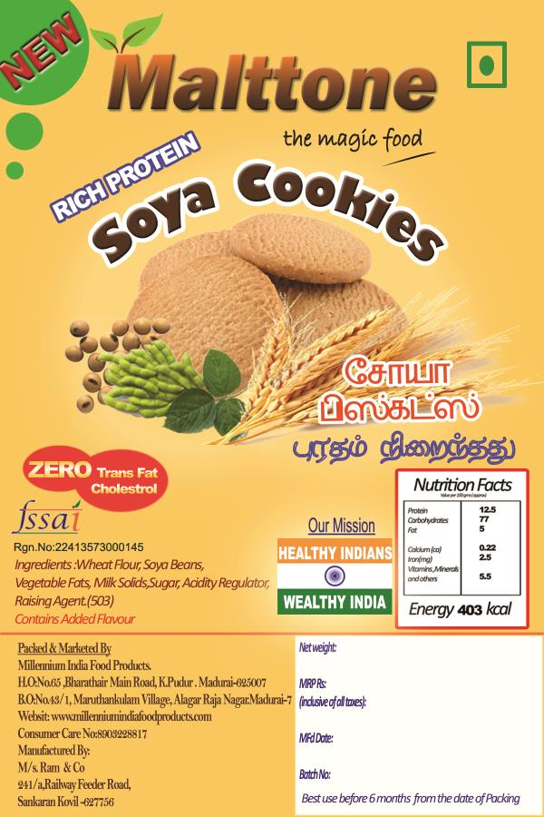 soy foods manufacturers in madurai  we are leading manfacturers of soy foods in tamil nadu we are manufacturing  malttone soys cookies in madurai