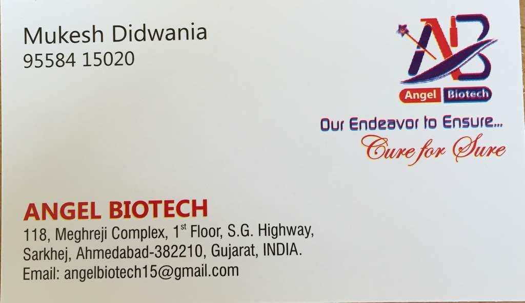 Angel Biotech pharmaceutical manufacturer based at Ahmedabad having more than 200 products in various segments