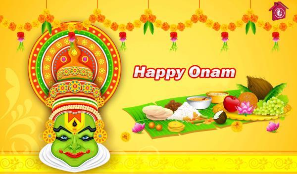 Wish u Happy Onam - by Saravana Stores and Embassy Family Shop, Sivakasi