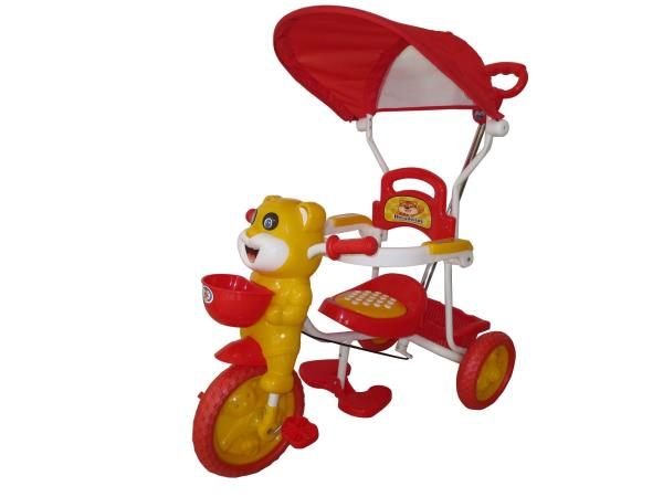 Peachbag proudly presents HLX-NMC HAPPY TIGER KIDS ROCKING TRICYCLE - RED/YELLOW(EASY ASSEMBLY EDITION). Best features of this kids tricycle are :  -BUCKET SEAT FOR COMFORT AND SAFETY -BROAD TYRES FOR SAFETY -DESIGNER REAR BASKET -INTERNATI - by PEACHBAG, Chennai