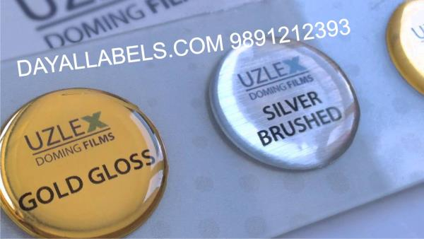 DOME LABELS We are manufacturers EXPORT QUALITY Dome Labels in Delhi. The Dome labels are Very Fine Quality Printing with temper gumming quality. Dome Labels also names Epoxy Labels or PU labels. For more details call or whatsap 9891212393  - by Wall Decal  | Dayal labels, Delhi