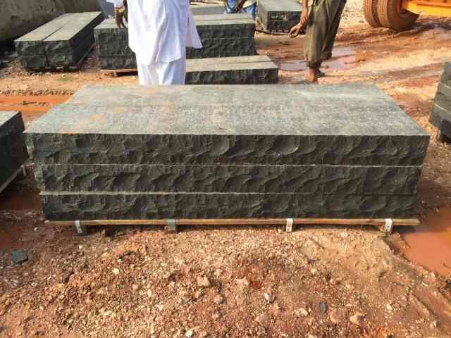 Black Basalt steps for landscaping .