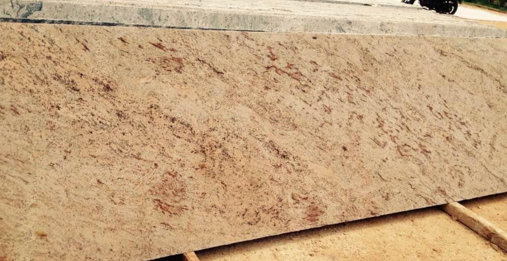 Siva gold granite polished slab from India