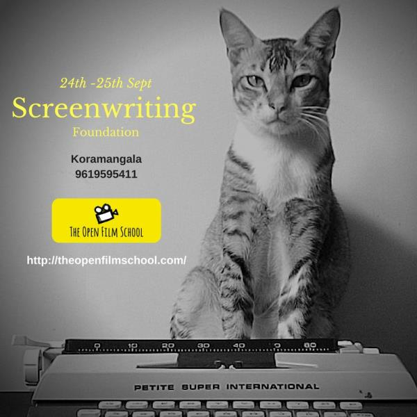 2 day Intensive Screenwriting foundation . Sept 24 - Sept 25. Koramangala. https://t.co/bwPq3GA72y - by The Open Film School, Mumbai
