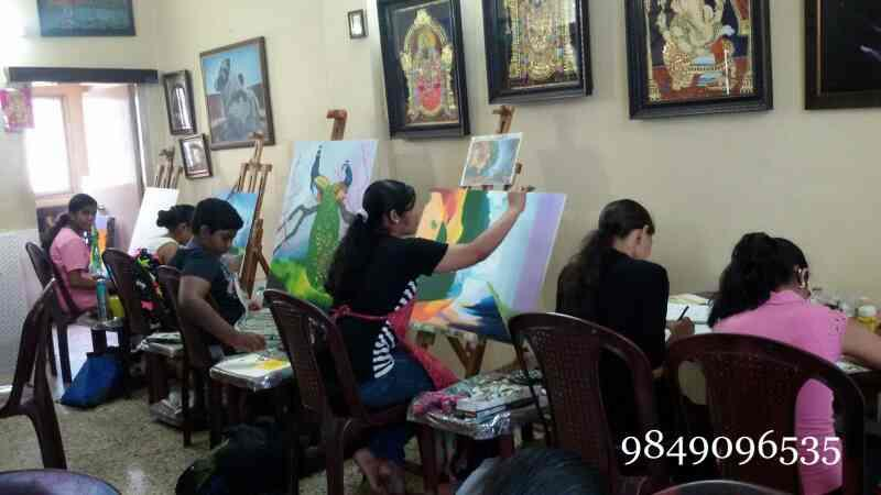 Shantha painting institution in hyderabad drawing art for Oil painting lessons near me