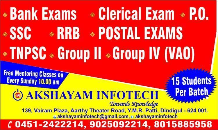 tnpsc materials & syllabus are available free at Akshayam Infotech @akshayamgroups @rajavelguru @muthupandian07 https://t.co/RTFZXfhYSO - by Akshayam, Dindigul