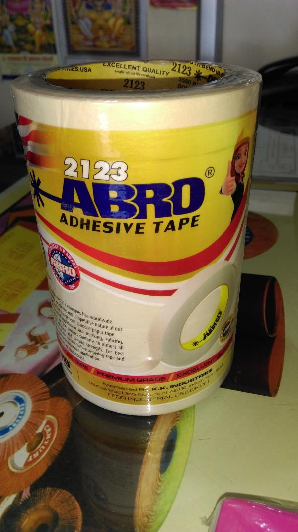 GD Traders  Authorised distributor of ABRO  Masking tapes, Abro tapes, Abrasive dealer in Aurangabad  GD Traders, Mondha naka signal, Aurangabad   ABRO Masking Tapes -Crepe paper self-adhesive masking tapes  -Excellent adhesion strength  -R - by GD Traders, Aurangabad