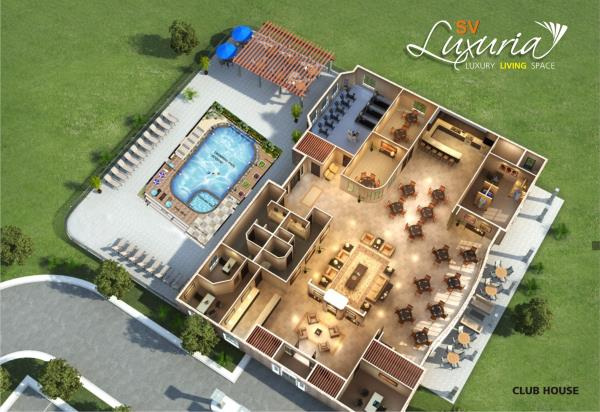 2Bhk Luxury apartments are Located in Kanakapura Main road  SV Luxuria with Swimming Pool, Club House etc... - by SV Infraa, Bangalore
