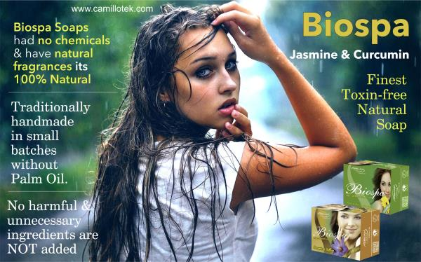 Biospa Jasmine & Curcumin Certified organic and natural soaps  Traditionally handmade in small batches without Palm Oil. Options for extra sensitive skin. Scents come from pure essential oils.  Natural soap handmade with organic olive oil,  - by BioShope, Chennai