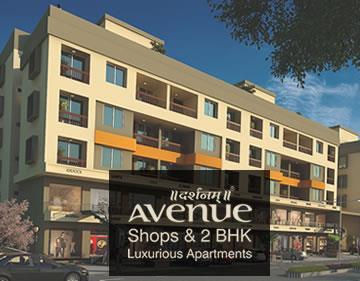 DARSHANAM AVENUE  Darshanam Avenue is a Residential cum Commercial site developed at Sayajigunj, Vadodara.  We have developed SHOPS & 2 BHK LUXURIOUS APARTMENTS.