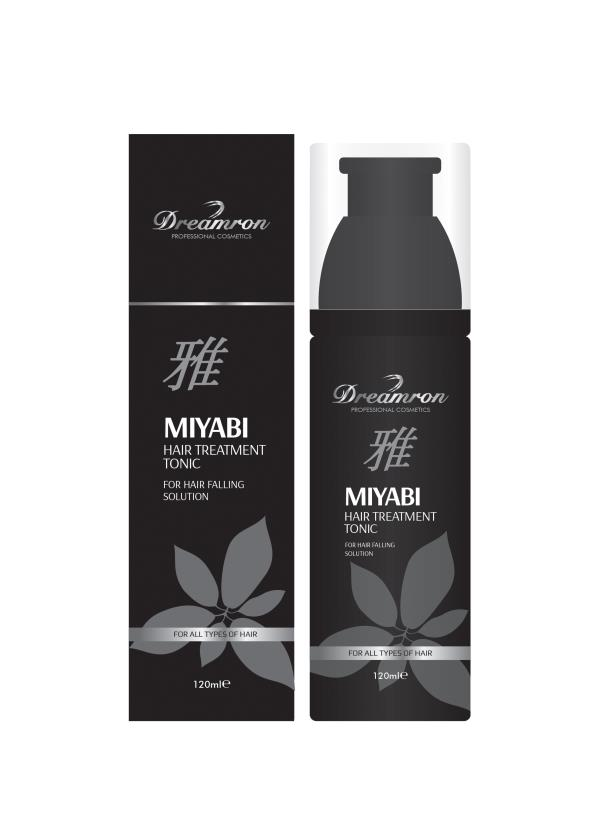 Dreamron MIYABI Hair Treatment Tonic 120 ml Dreamron MIYABI Hair grower Treatment Tonic is a product which is comprised of eight botanical extracts with vitamin E.  It improves the blood circulation under the scalp and reduces scalp irritat - by Dreamron India Inc, Bangalore