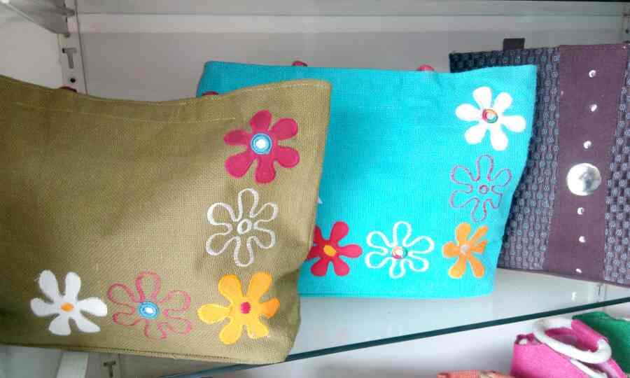 flower embroidery fancy hand bags