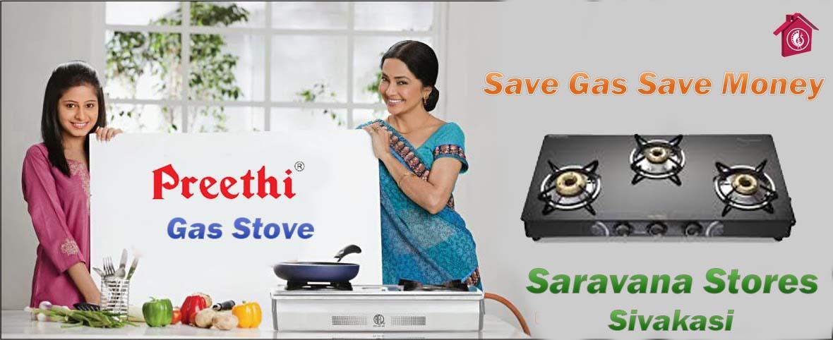 Preethi Gas Stove - by Saravana Stores and Embassy Family Shop, Sivakasi