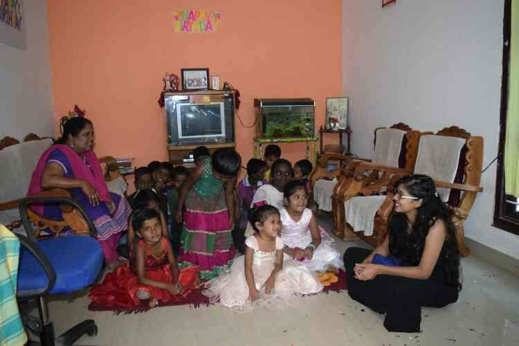cutey birthday was celebrated with us all our children blessed her and her friends for sharing their love with us - by Rays Of Hope, Bengaluru
