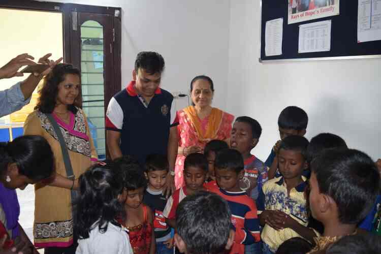 Ivan birthday was celebrated with us they shared their love and spent some time with our children  - by Rays Of Hope, Bengaluru