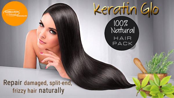 Keratin Glo - Conditioning Hair Pack 100% Natural Herbal Hair Pack  Building hair regrowth naturally. Made with unique formulation of natural herbs. It makes your hair healthy, bouncy and more shinny. Very good for dandruff and stop hair fa - by BioShope, Chennai