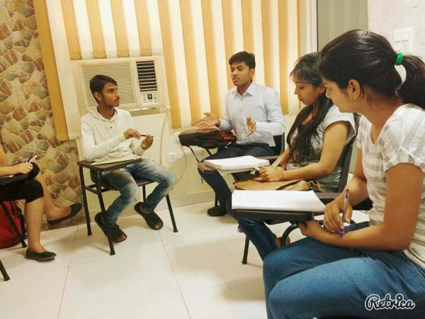 At BELS we believe that inculcating team spirit is important in order to succeed in life as true leaders are made only by leading their team.   Group Discussion under process at BELS english coaching institute near jhilmil. we provide best  - by BELS ENGLISH LANGUAGE, North West Delhi