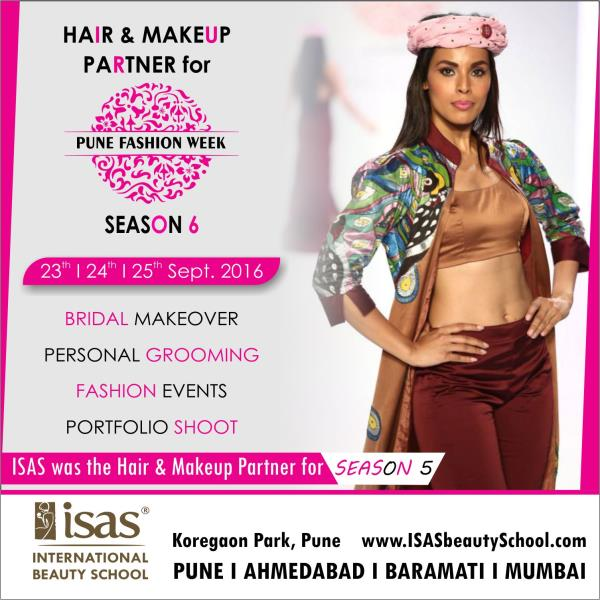Hair & Makeup Partner for   PUNE FASHION WEEK - SEASON 6  ISAS, International Beauty School  Certificate & Diploma Courses: #Creative_Hair_Designing #Advanced_Beauty_& _ #SpaTherapy #Personal_Grooming #Professional_Makeup #NailExtension_& # - by ISAS Ahmedabad, Ahmedabad