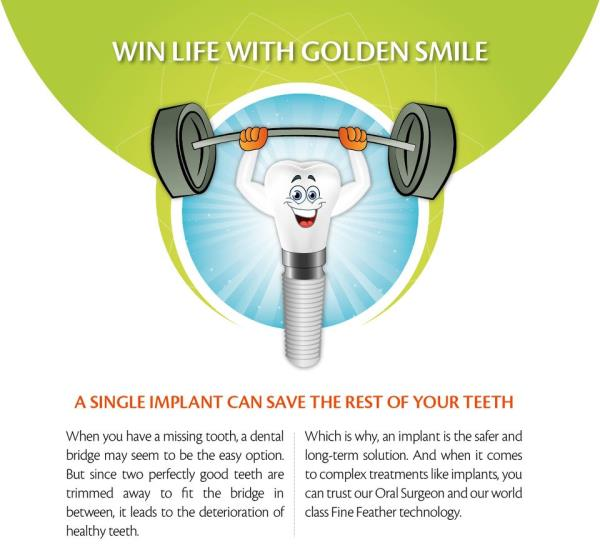 Your Dental Implant is going to survive for ages because we will pay stress on the maintenance phase of it. Our Dental Clinic will give you world class Dental Implants at Reasonable prices. Our Dental Clinic is Affordable because we also cl - by FineFeather Dental Gandhinagar, Gandhinagar