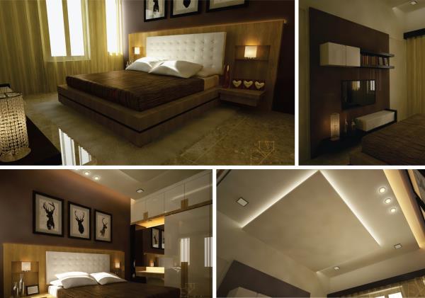 contemporary bed room design.